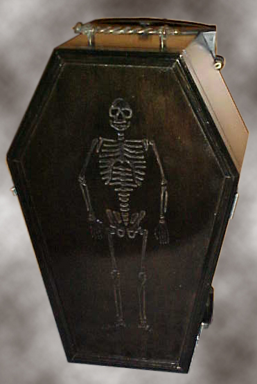 Carry On Coffin Luggage - Handle retracted