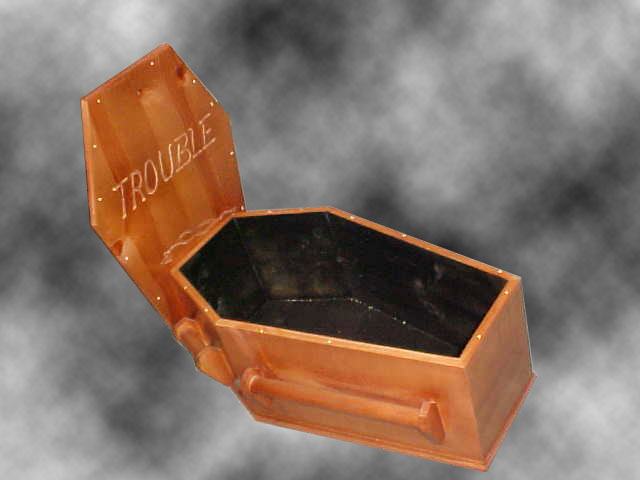 Open Coffin with lid
