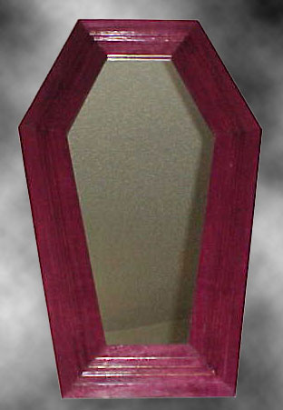 Purple Heart Coffin Mirror