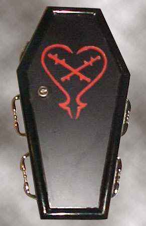 Coffin Purse #16 - The Barbed Heart Purse