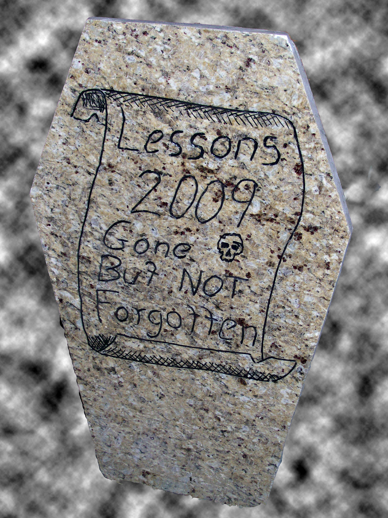 Lessons 2009 Headstone