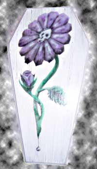 Death Daisy coffin painting