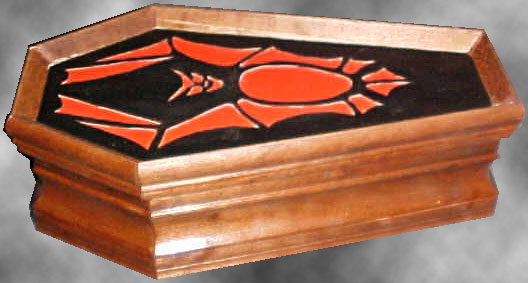 Bat Jewelry Coffin - Side View